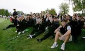 图文-莱德杯首日欧洲队领先欧洲助威团声势大