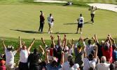 图文-欧洲队成功卫冕莱德杯蒙格玛利锁定胜局