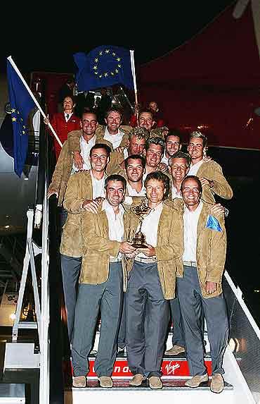 图文-莱德杯欧洲队载誉而归欧洲精英凯旋归来