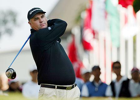 图文-香港高尔夫公开赛首轮威尔士选手多德