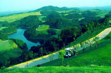 图文-青竹湖国际高尔夫球会湖光山色尽收眼底