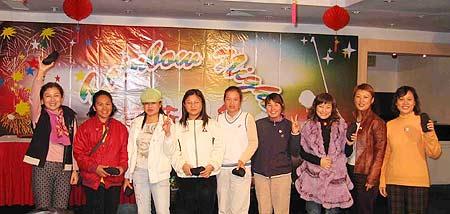 图文-广东省女子业余公开赛抽奖活动获奖者