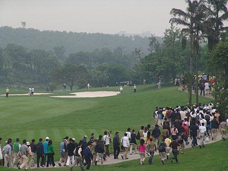 图文-第二届朝王杯第二轮现场观赛穿梭如织