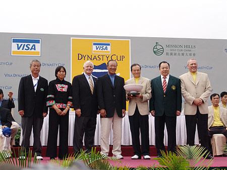 图文-朝王杯对抗赛圆满收杆颁奖典礼嘉宾合影