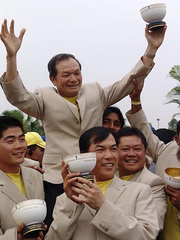 图文-朝王杯对抗赛圆满收杆感谢谢队长的信任