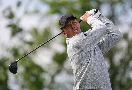 图文-英国名人赛第三轮丹麦球员汉森打76杆