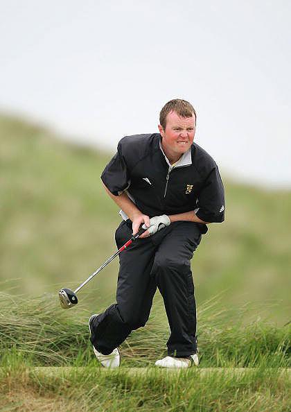 图文-英国业余高尔夫锦标赛新科冠军功底扎实