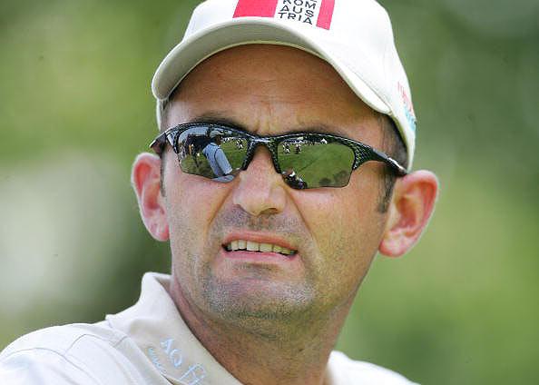 图文-荷兰高尔夫公开赛首轮布瑞尔满脸痛苦