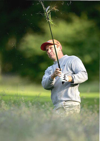 图文-荷兰高尔夫公开赛首轮英格兰选手思朋斯