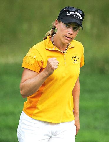 图文-LPGA锦标赛第三轮收杆大姐大霸气无人及