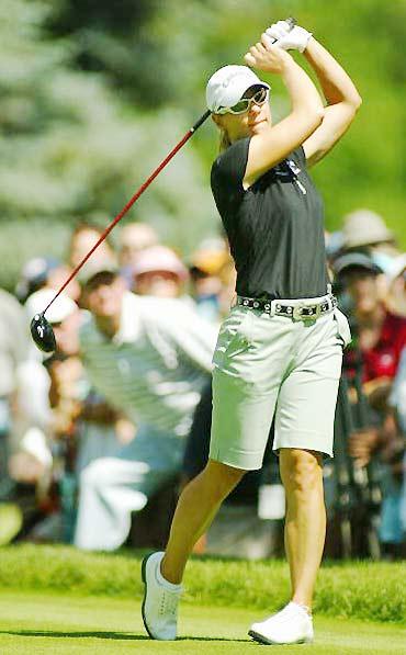 图文-美国女子公开赛决赛轮索伦斯坦无力回天