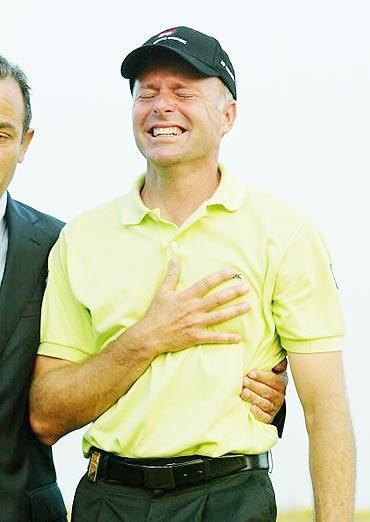 图文-欧巡法国公开赛决赛轮赢得胜利激动不已