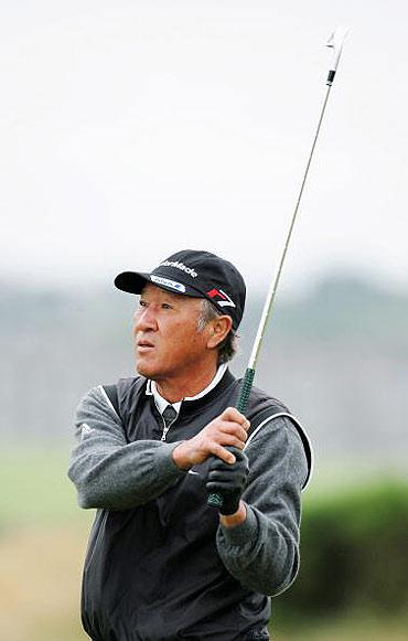 图文-英国常青公开赛第二轮日本老将青木功