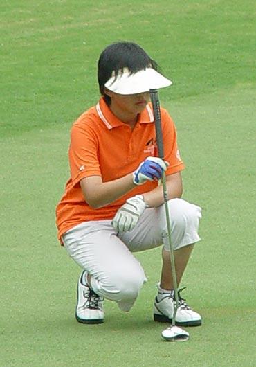 图文-全国青少年高球锦标赛天一球队的杜泽宇