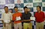 图文-全国青少年锦标赛收杆男子A组前三名