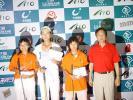 图文-全国青少年锦标赛收杆女子A组前三名