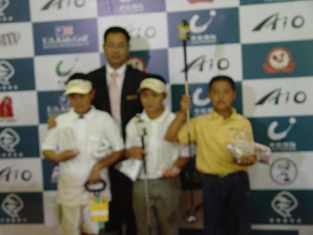 图文-全国青少年锦标赛收杆男子D组前三名