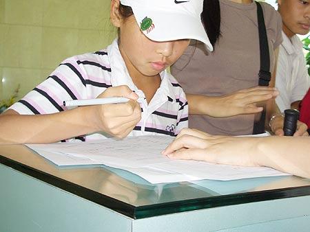 图文-张连伟杯青少年邀请赛名字签在哪里呢