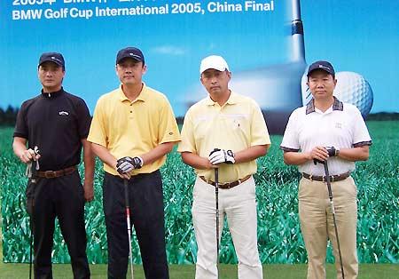 图文-BMW杯国际高球中国决赛选手已经各就各位