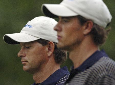 高尔夫总统杯第三日国际队古森与斯科特