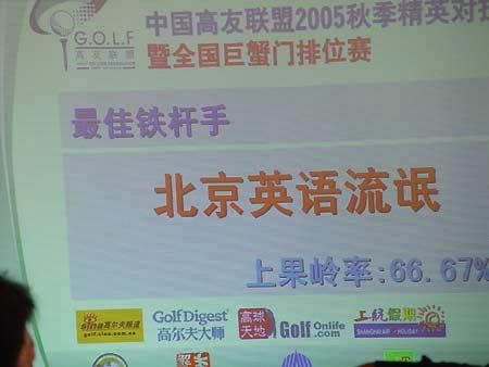图文-中国高友联盟精英赛北京英语流氓获奖