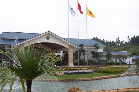 图文-中国业余巡回赛配对赛漂亮的建筑风景
