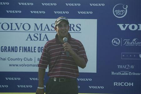 图文-VOLVO亚洲高尔夫大师赛卡普尔发表夺冠感言
