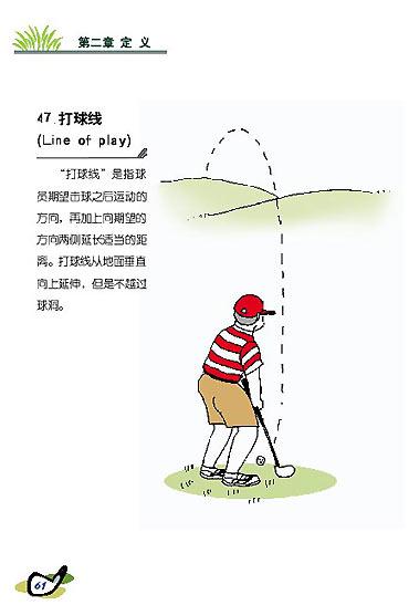 图文-新高尔夫规则图解连载[定义]打球线