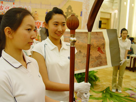 图文-中国捶丸复原艺术品观摩会珍品原形源自古画