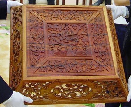 图文-中国捶丸复原艺术品观摩会箱体盖顶部图纹