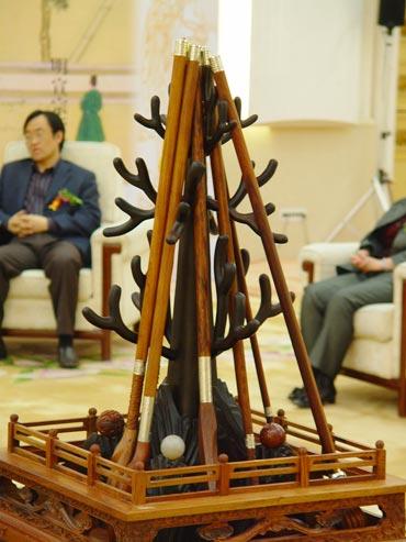 图文-中国捶丸复原艺术品观摩会艺术品全套原貌