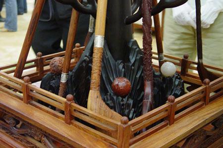 图文-中国捶丸复原艺术品观摩会棒与球的组合