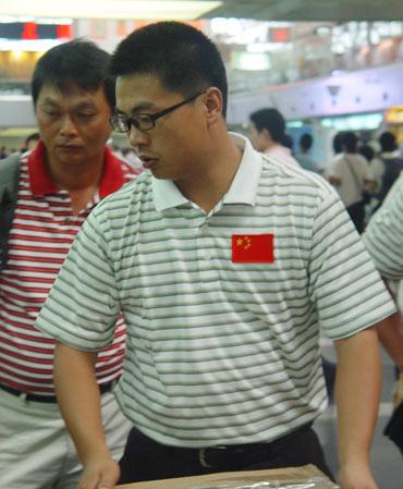 图文-亚运集训队赴橡树谷训练樊志鹏全新形象
