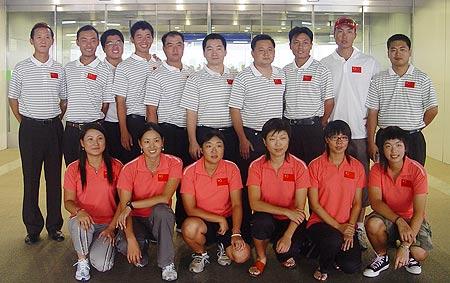 图文-亚运集训队赴橡树谷训练集训队全体队员合影