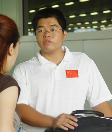 图文-亚运集训队赴橡树谷训练福建球员杨文章