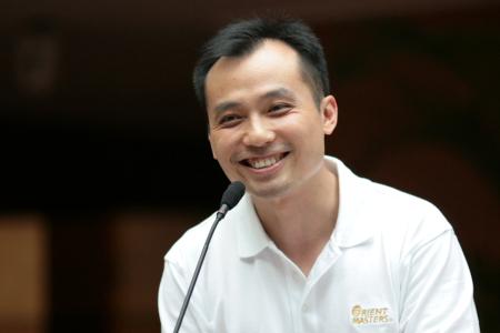 图文-东方名人赛宁波站发布会东方高尔夫集团潘总