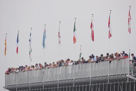图文-英国公开赛首轮花絮顶层观众视野开阔