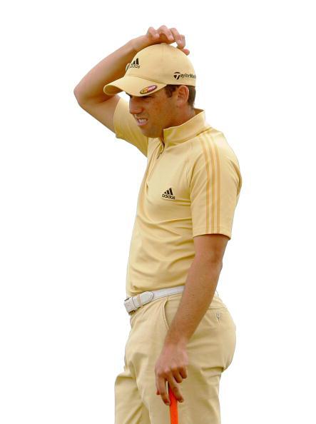 图文-伍兹卫冕英国公开赛冠军加西亚推杆拖后腿