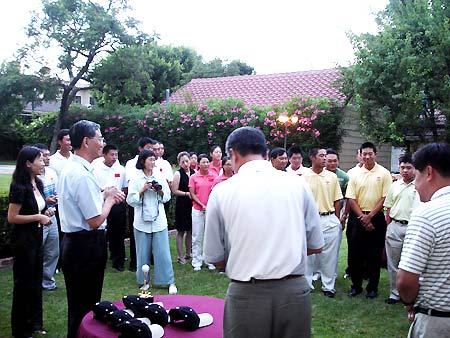 图文-国家队赴美集训驻洛山矶领事馆举办欢迎晚宴