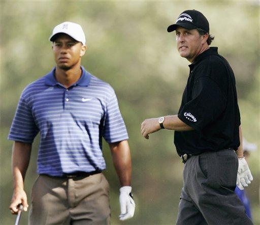 图文-第88届PGA锦标赛开杆两大天王同组较量