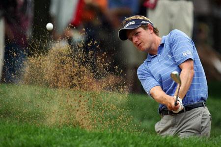图文-美国PGA锦标赛第二轮结束唐纳德基本功扎实