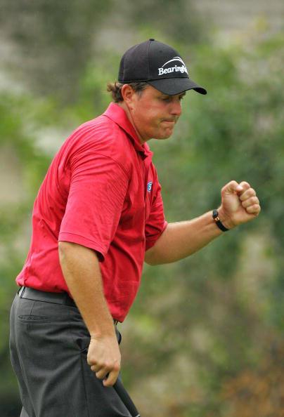 图文-美国PGA锦标赛第二轮小鸟令米克尔森激动