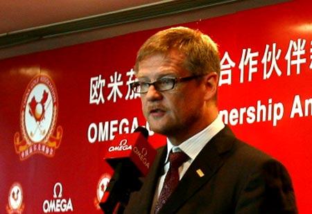 图文-中巡赛上海站即将开杆欧米茄总裁致辞