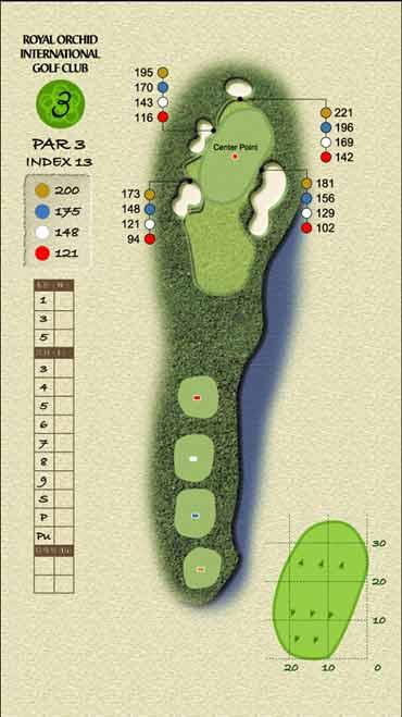 图文-君兰国际高尔夫球场第三洞保持镇静