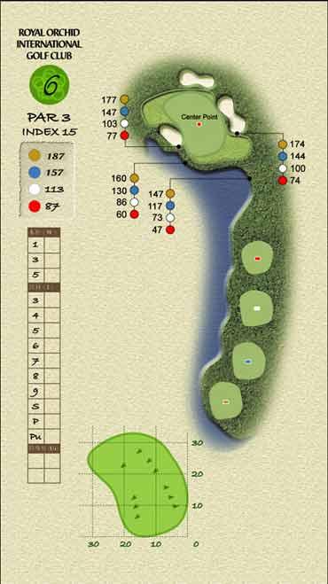 图文-君兰国际高尔夫球场六号洞挑战深潭