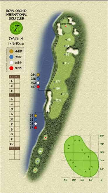 图文-君兰国际高尔夫球场第七洞考验忍耐力