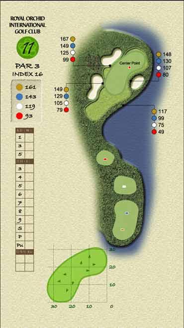 图文-君兰国际高尔夫球场十一号洞警惕小障碍