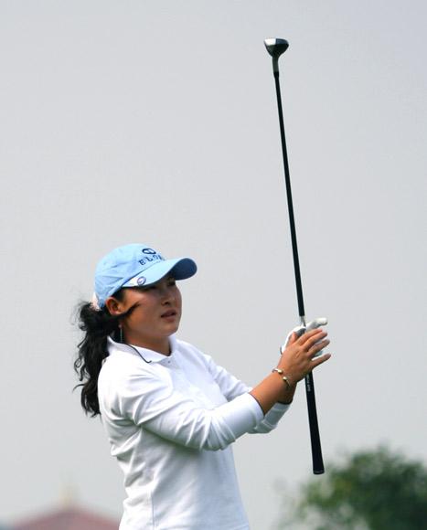 图文-美的女子精英赛第一轮杨涛丽新年新气象