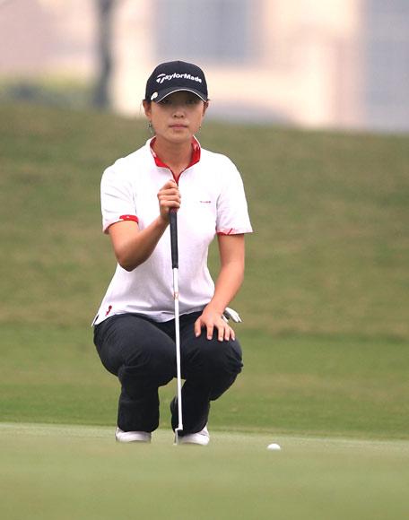 图文-美的女子精英赛第二轮李唯暂时排第六
