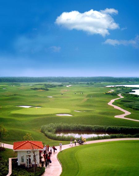 图文-上海滨海高尔夫球场美景独特体验从此开始